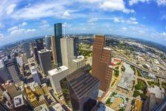 Antenne von modernen Gebäuden lizenzfreies stockfoto
