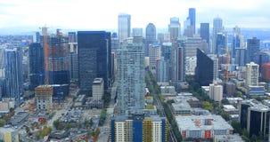 Antenne von Seattle, Washington Skyline 4K stock video footage