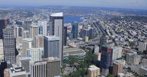Antenne von Seattle, Washington Stadtzentrum 4K stock video