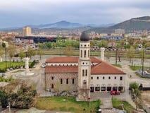 Antenne von Skopje lizenzfreie stockfotos