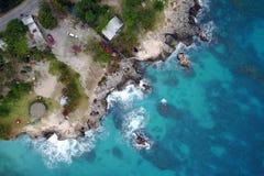 Antenne von 3 Tauchen zeigen, Negril, Jamaika lizenzfreie stockbilder