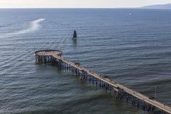 Antenne von Venedig-Pier in Los Angeles Kalifornien lizenzfreies stockfoto