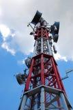 Antenne in wolken stock fotografie