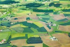 Antennen av landsbygd nära flygplatsen Munich i erdingeren råma Fotografering för Bildbyråer