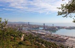 Antennen beskådar av Barcelona Arkivfoton