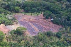 Antennen beskådar av chamarel, Mauritius Fotografering för Bildbyråer