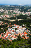 Antennen beskådar av den Sintra staden, Portugal Arkivbild