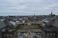 Antennen beskådar av Köpenhamn royaltyfria foton