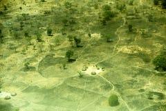 Antennen beskådar av landskap i södra Sudan Royaltyfria Bilder