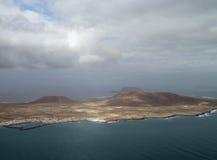 Antennen beskådar av Lanzarote Arkivbilder