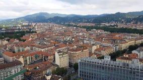 Antennen beskådar av Turin, Italien arkivfilmer