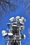 Antennen für Telekommunikation Stockfotografie