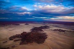 Antennen sköt av den Namib öknen - Sossusvlei - Namibia Arkivfoton