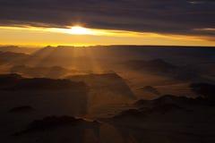 Antennen sköt av den Namib öknen - Sossusvlei - Namibia Arkivbilder