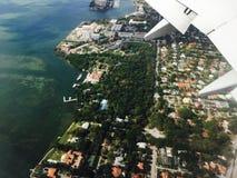 Antennen tävlar av Miami Florida Royaltyfria Foton