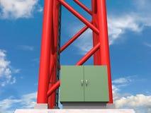 Antennen-Unterseite Stockfoto