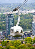 Antennenförderwagen Portland-Oregon Stockbild