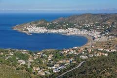 Antennenfeld El Port de la Selva Spaniens Costa Brava lizenzfreie stockbilder