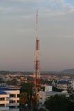 Antennenfreileitungsmast, Stockfotografie