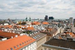 Antennenlandschaft Wiens, Österreich Stockfoto
