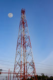 Antennenmast der Kommunikation Stockbild