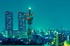 Antennenmast nachts Stockbilder