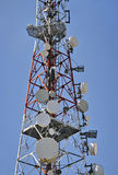 Antennenmast und der Himmel Stockfotografie