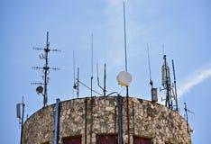 Antennenmast und der Himmel Lizenzfreie Stockfotografie
