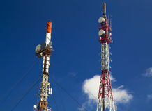 Antennenmaste stockfoto