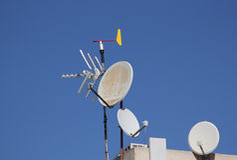 Antenner royaltyfria foton