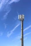 Antenner på tornet Arkivbild