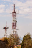Antennes de communication Photos libres de droits