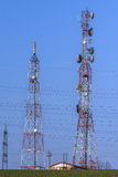 Antennes de communication Photographie stock