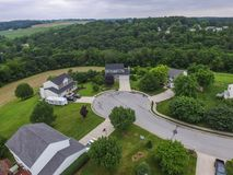 Antennes de la nouvelle liberté, de la Pennsylvanie et des terres cultivables environnantes du photo stock