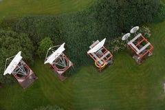 Antennes de satellite Photos libres de droits