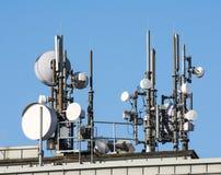 Antennes de télécommunication Photographie stock libre de droits