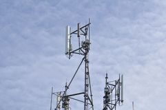 Antennes de téléphone sans fil Photographie stock