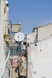 Antennes de télévision par satellite Photo libre de droits