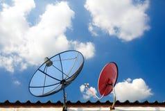 Antennes paraboliques Photo libre de droits