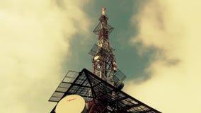 Antennes Pool voor Mobiele Uitzending en TV-Netwerk stock footage