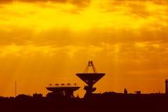 Antennes pour les télécommunications spatiales Images stock