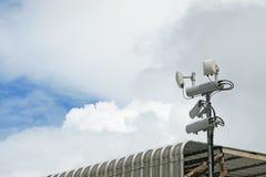 Antennes van mobiele cellulaire systemen met de repeater van de wifi hete vlek Stock Afbeeldingen