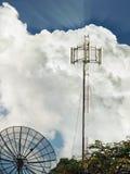 antennmaträttsatellit Arkivfoto