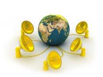 Antenns schloß an Erde an Lizenzfreies Stockfoto