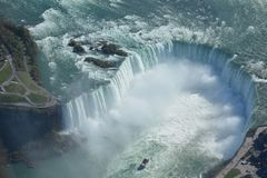 Antennskott av hästskofalls- Niagara Falls Ontario arkivbild
