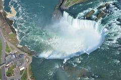 Antennskott av hästskofalls- Niagara Falls Ontario Arkivbilder