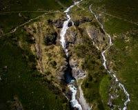 Antennskottvattenfall, engelberg, Schweiz Royaltyfria Foton
