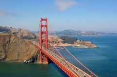 anteny bridżowego gatge złoty horyzontalny widok Zdjęcia Stock