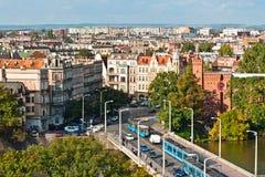 anteny bridżowy Poland uniwersytecki widok wroclaw Zdjęcie Royalty Free