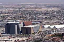 anteny centrum las targowy Vegas widok świat Obrazy Royalty Free